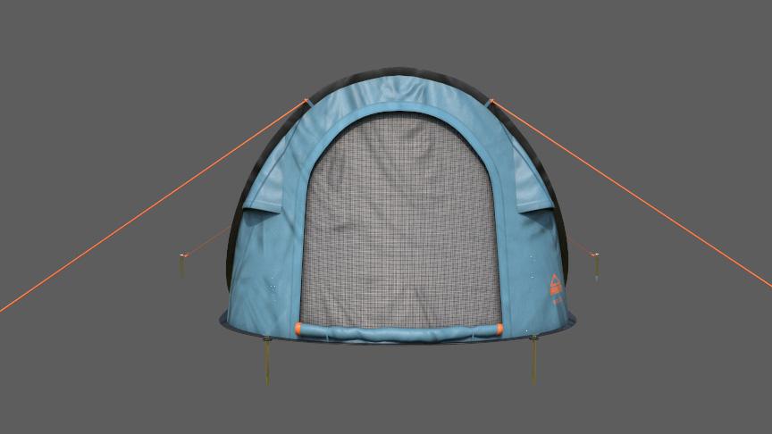 tent 3d model 1