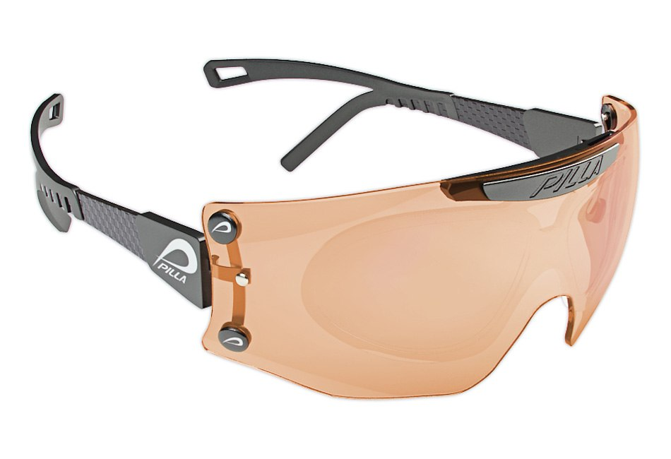 Pilla sport glasses brown - front view by Tsymbals