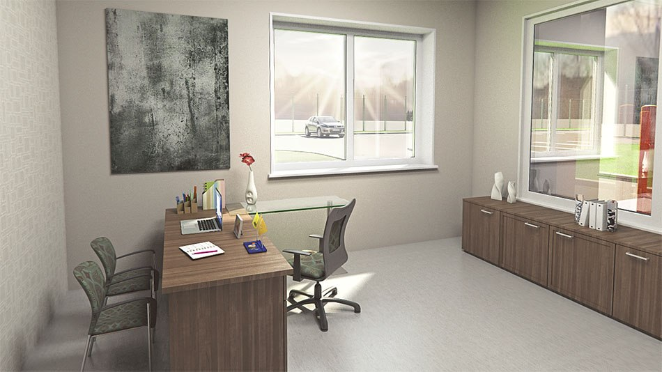 Factory 3D Visualization work place by Tsymbals