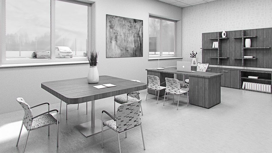 Factory 3D Visualization rest room by Tsymbals