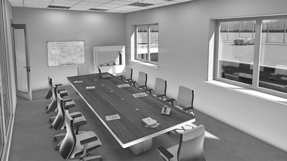 Factory 3D Visualization meeting room by Tsymbals
