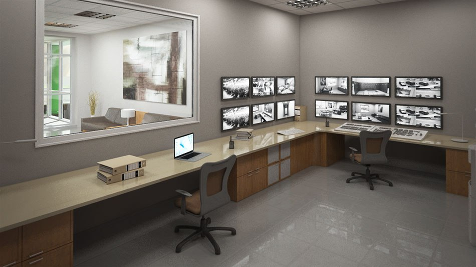 Factory 3D Visualization CCTV room by Tsymbals