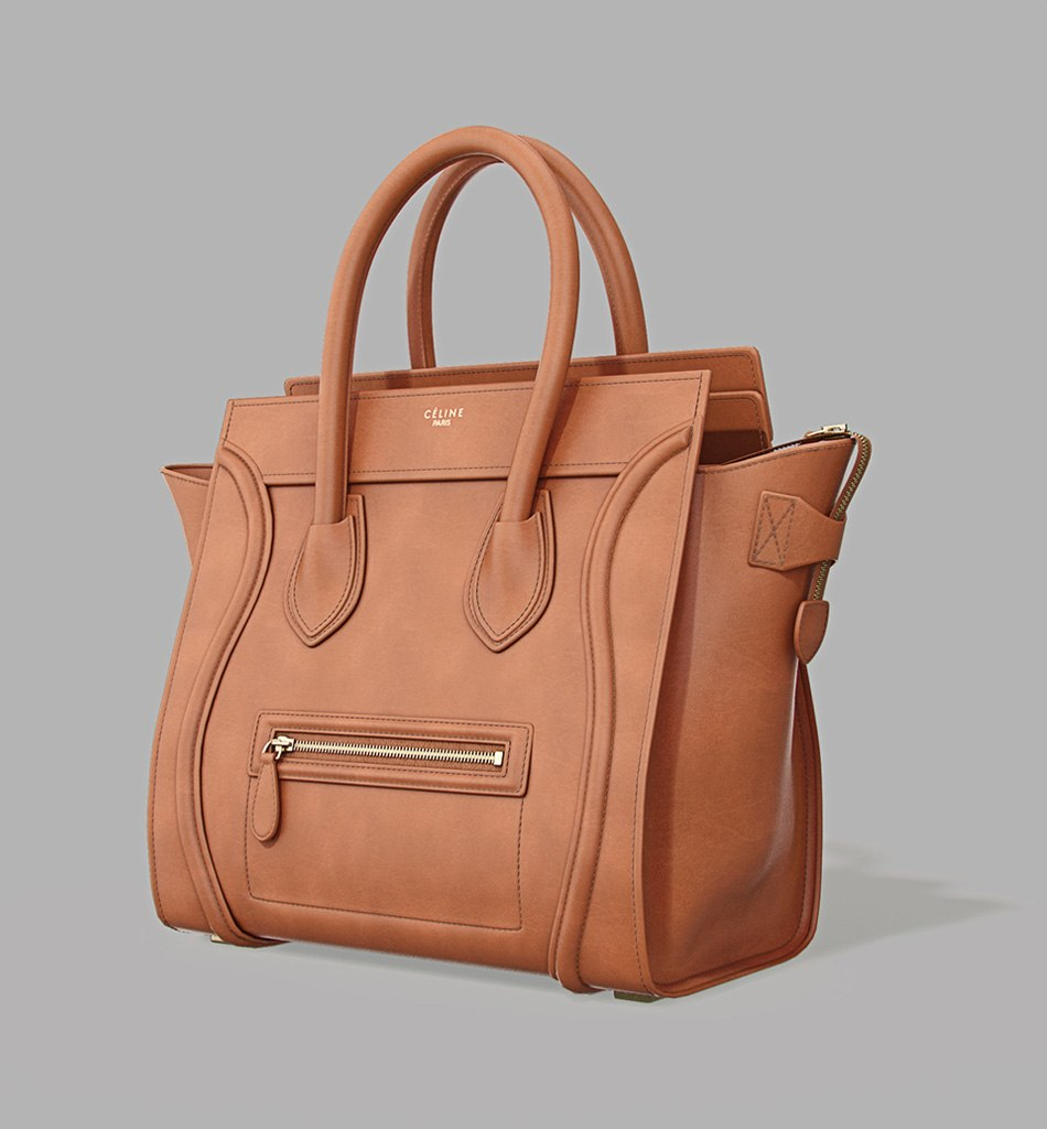 Celine Luggage Bag - model in brown by Tsymbals