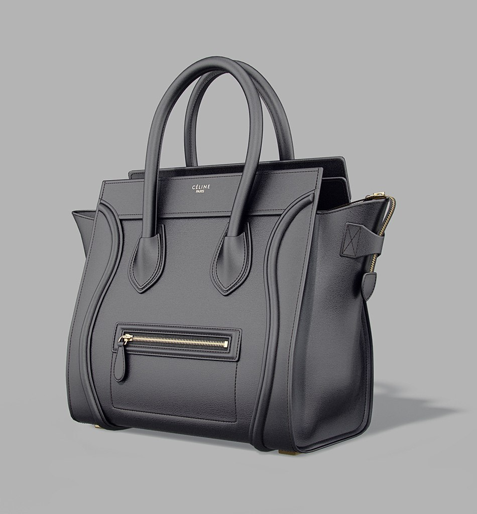 Celine Luggage Bag - model in black by Tsymbals
