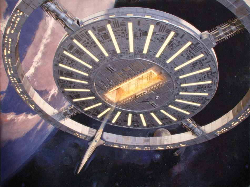 3d model Space station