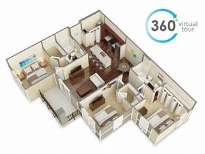 360 panorama virtual tour big flat by Tsymbals