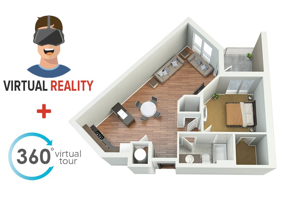 360 panorama virtual tour small flat with virtual reality by  Tsymbals