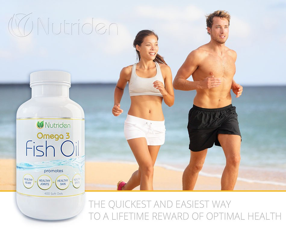 Omega -3 for the magazin with two people - 3d Photorealistic product presentation by Tsymbals