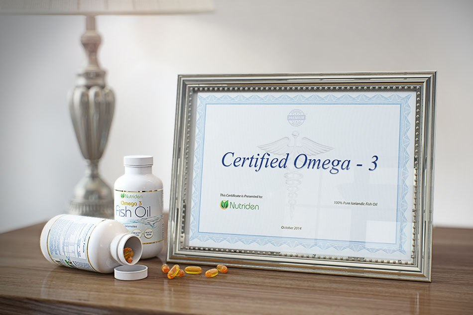 """Certified omega -3 """"Fish oil"""" - 3d Photorealistic product presentation by Tsymbals"""