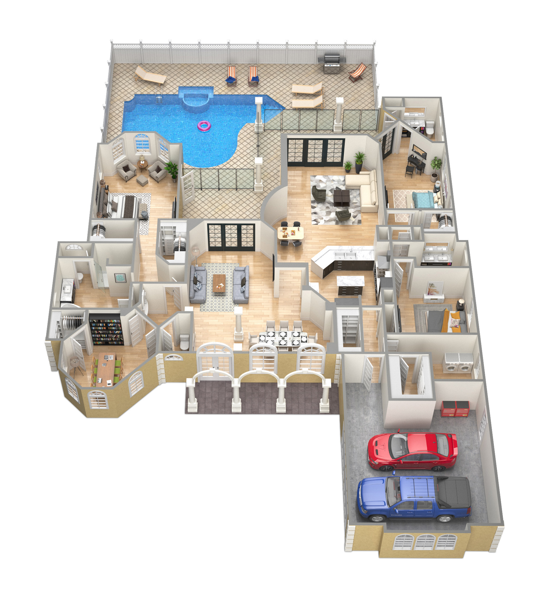 SawyerSound Tobago 3D Floorplan by Tsymbals