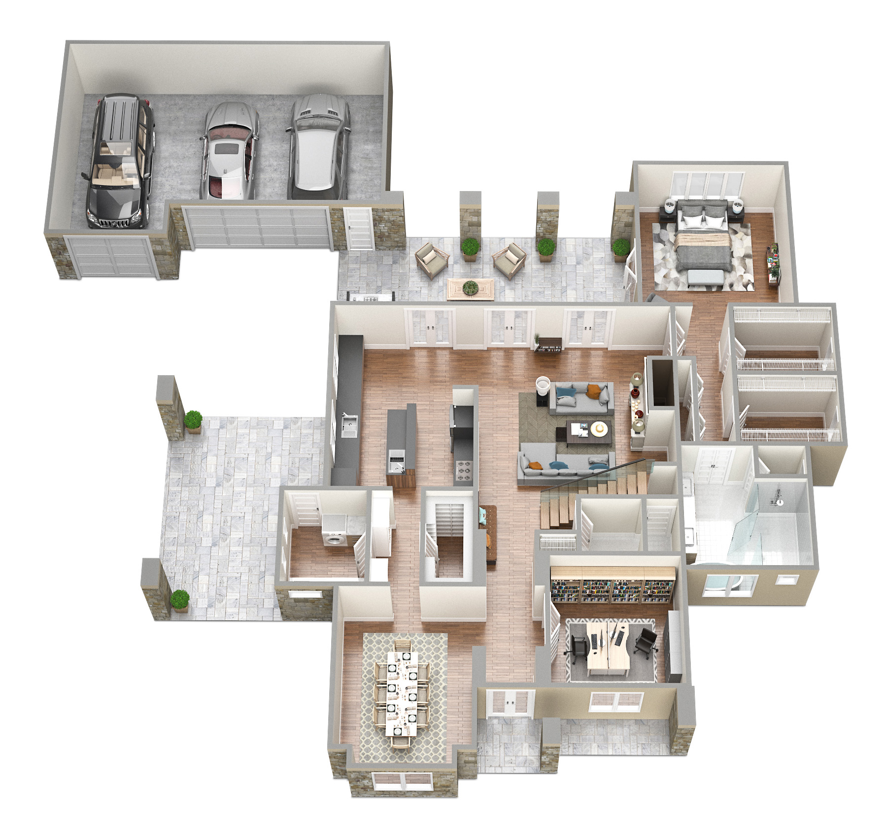 SawyerSound Sawyer 1st floor 3D floorplan  by Tsymbals