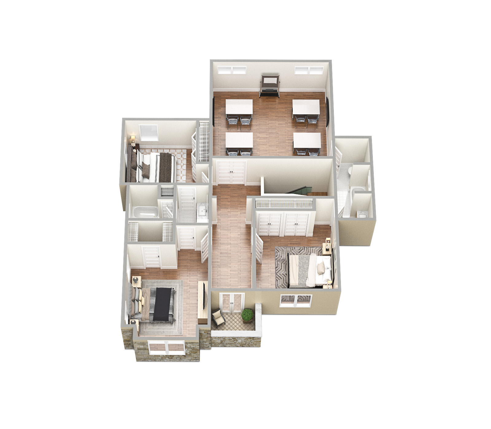 SawyerSound Sawyer 2nd floor 3D floorplan  by Tsymbals