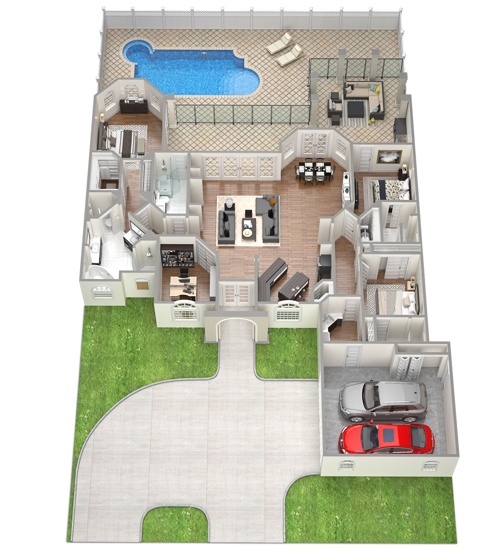 SawyerSound Santa Barbara 3D Floorplan by Tsymbals