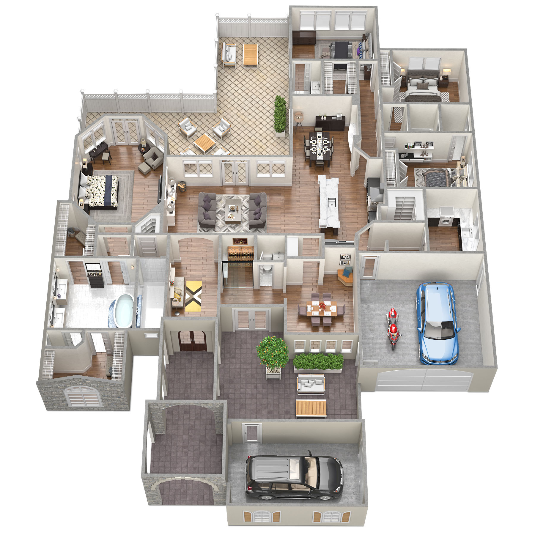 SawyerSound Sheehy-Yarborough  3D Floorplan by Tsymbals