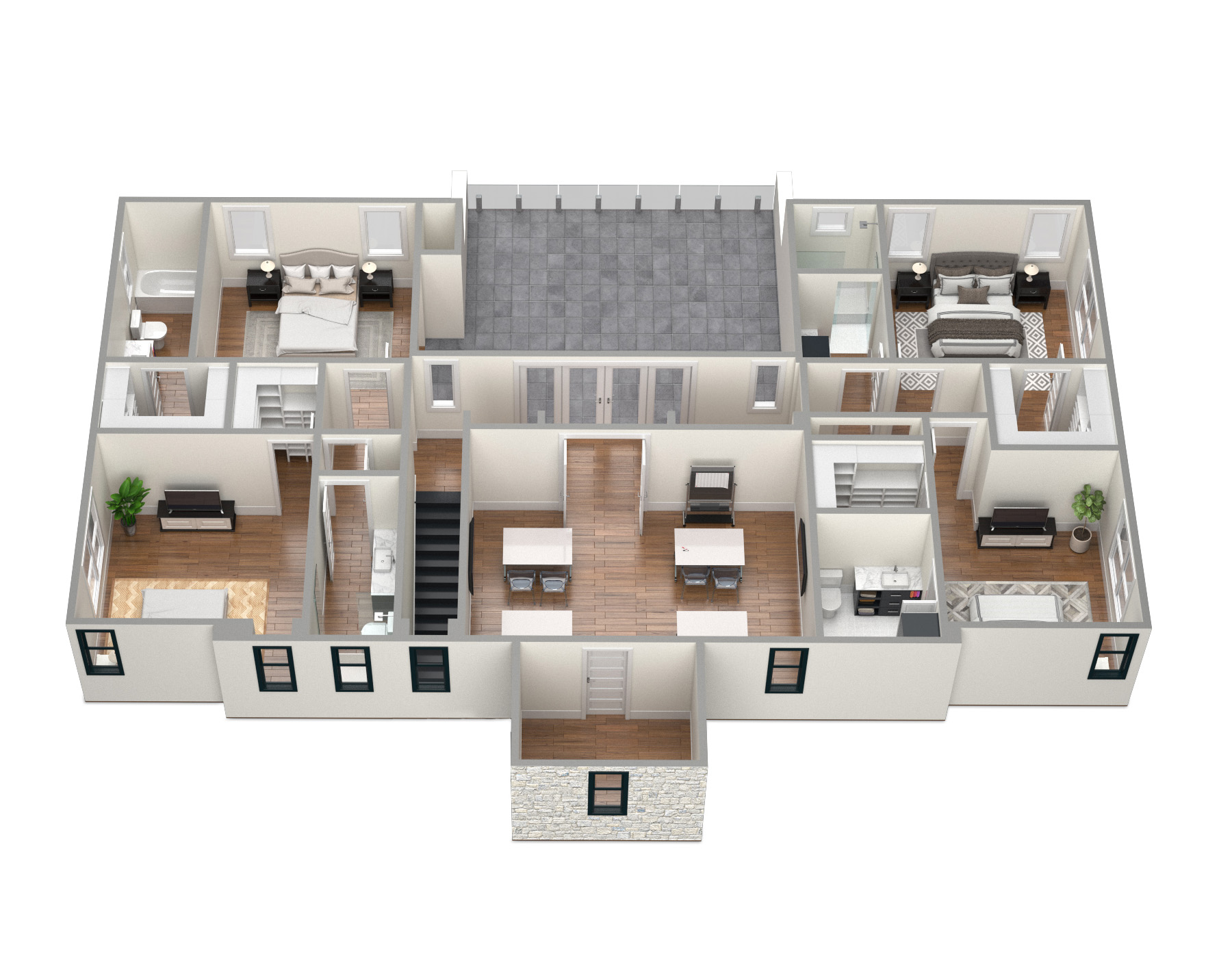 SawyerSound Sounding 2nd floor 3D floorplan  by Tsymbals