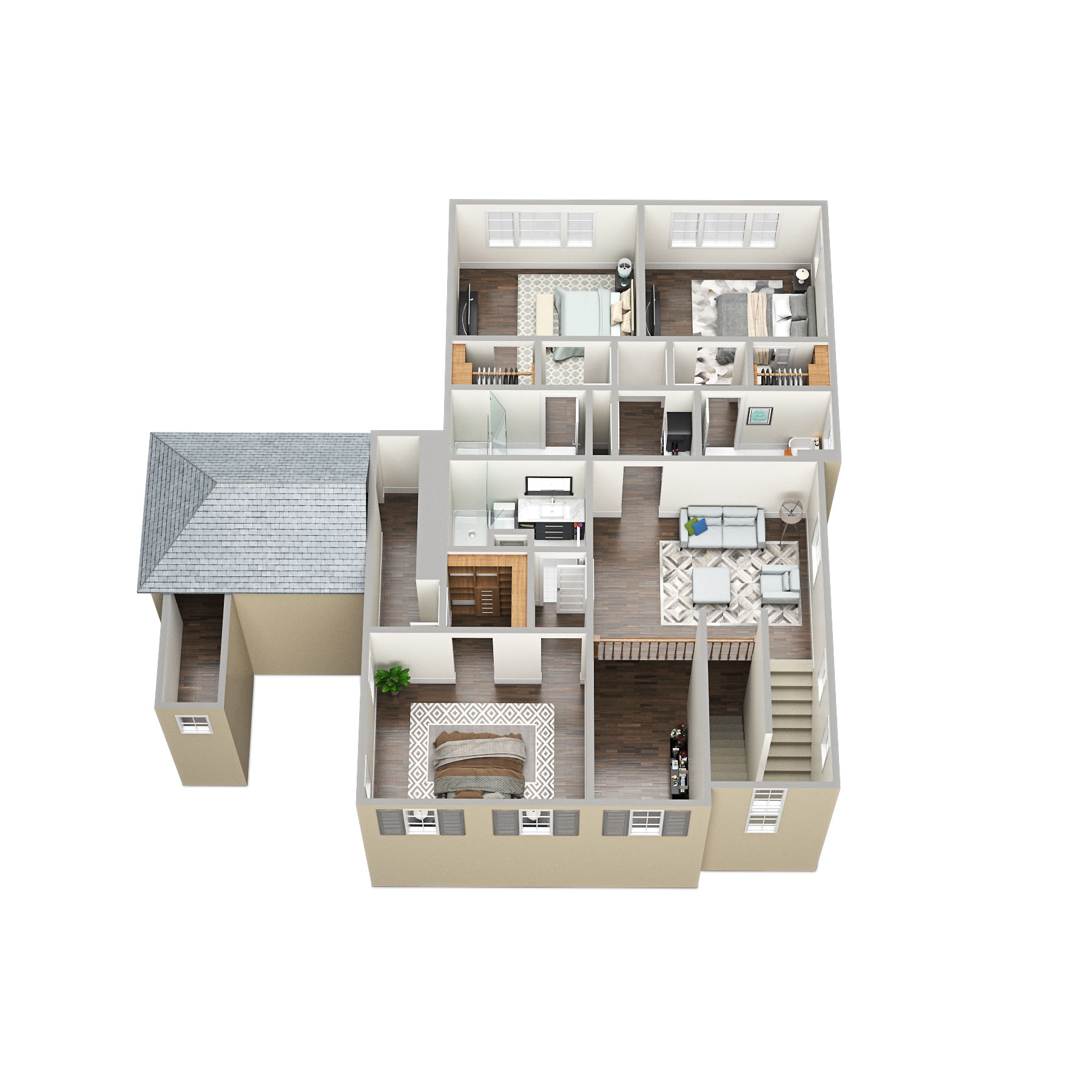 SawyerSound Weston 2-nd floor 3D floorplan  by Tsymbals