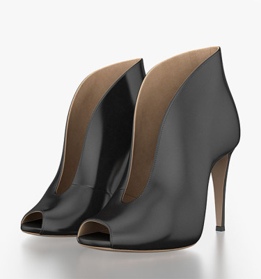 Gianvito Rossi Vamp Bootie 3d model by Tsymbals