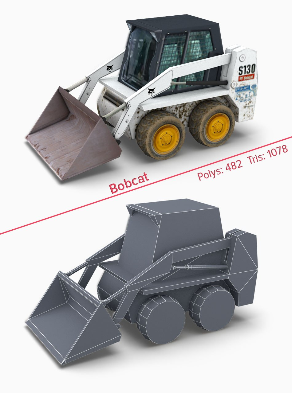 Bobcat1 3d game model by Tsymbals