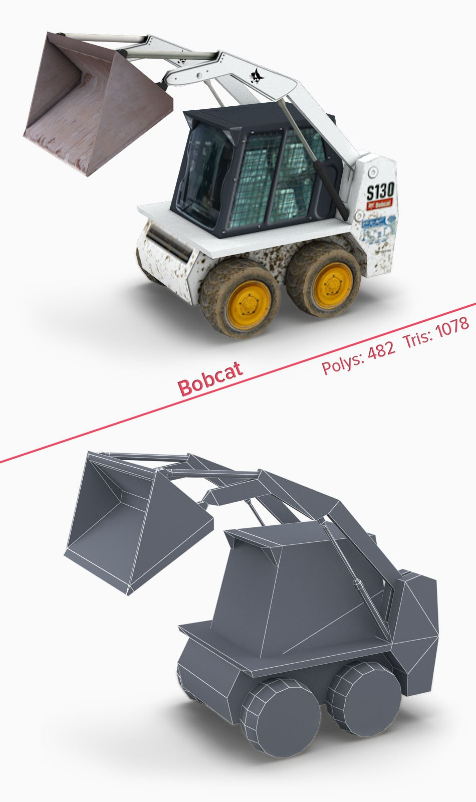 Bobcat2 3d game model by Tsymbals