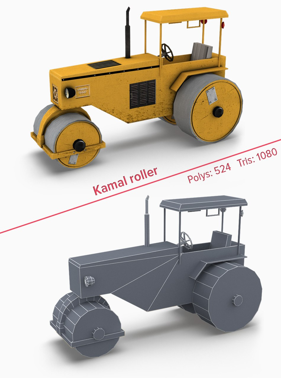 Kamal-roller 3d game model by Tsymbals