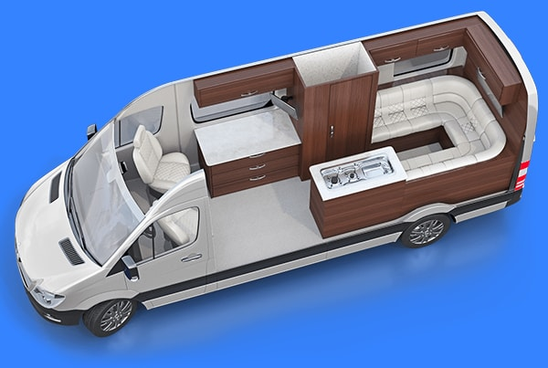 RVs, Caravans, Motorhomes Layouts 3DDesign