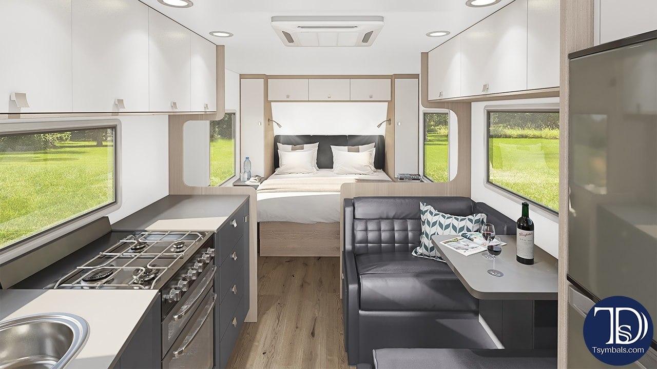 Van interior lounge trailer visualization