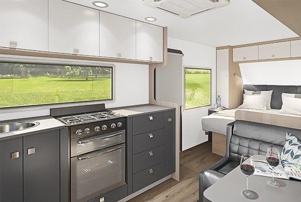 Travel trailer interior visualization