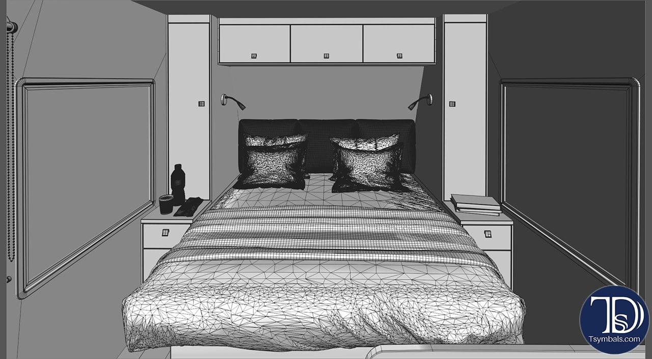 Wire bedroom trailer visualization
