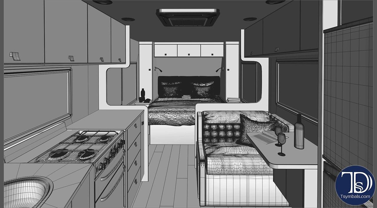 Wire lounge trailer visualization