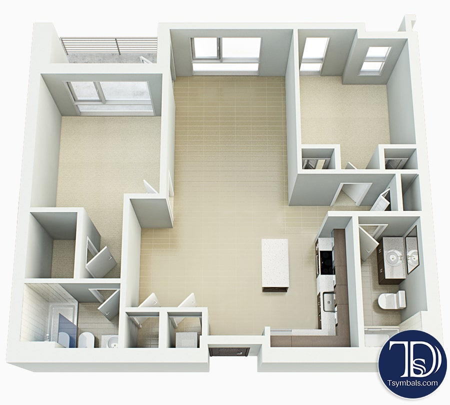 3d Floor Plans Design | Tsymbals Design