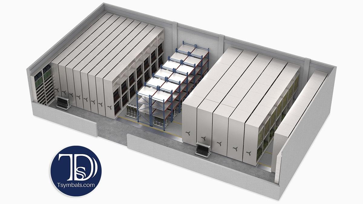 Industrial storage 3d floor plan