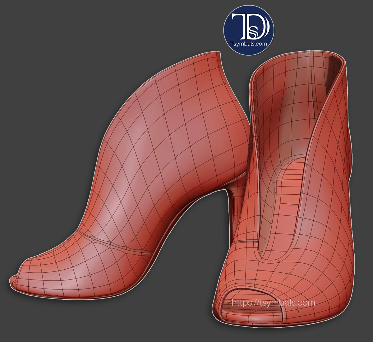 High heel shoes 3D modeling 👠 | Tsymbals Design