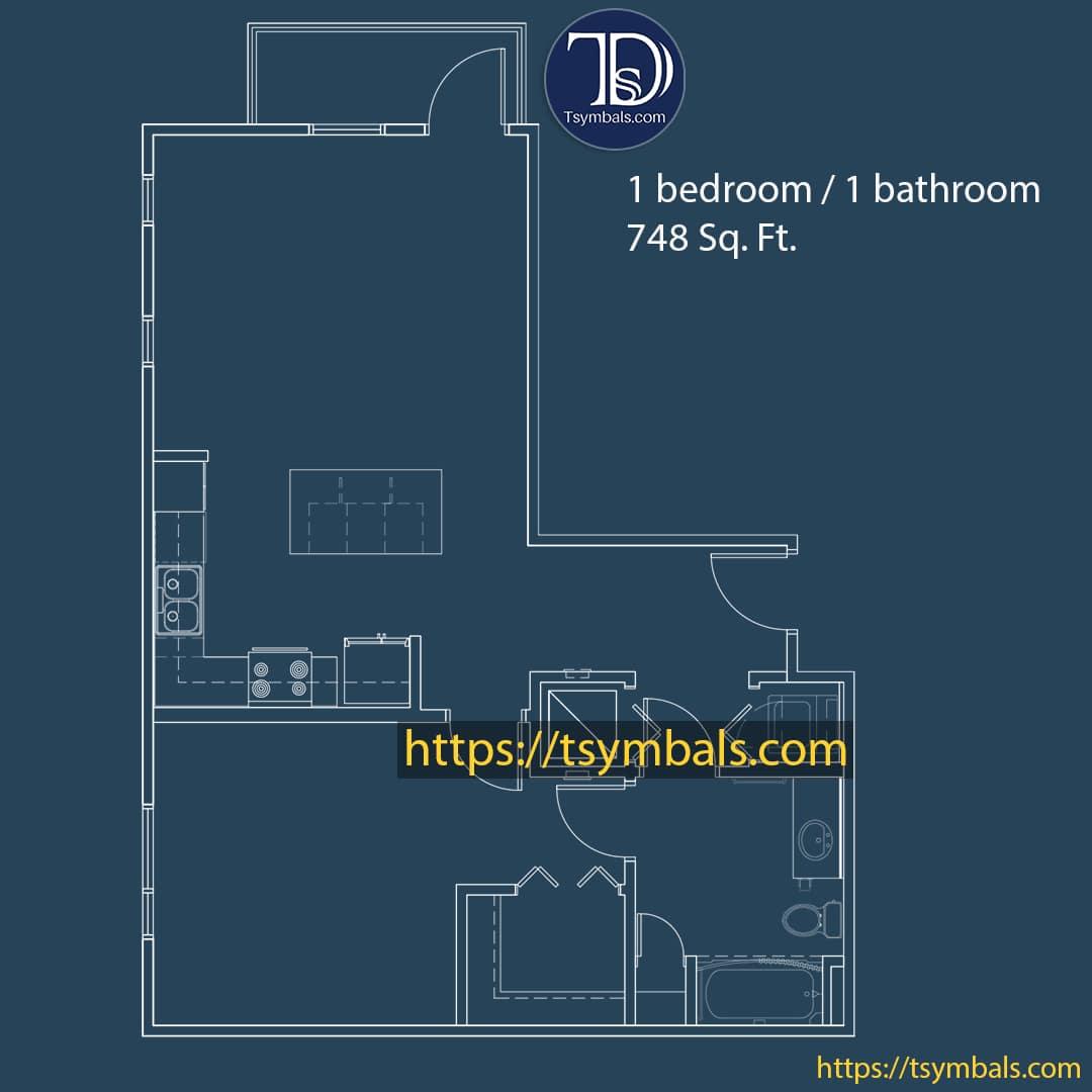 One bedroom apartment drawing nolen a min