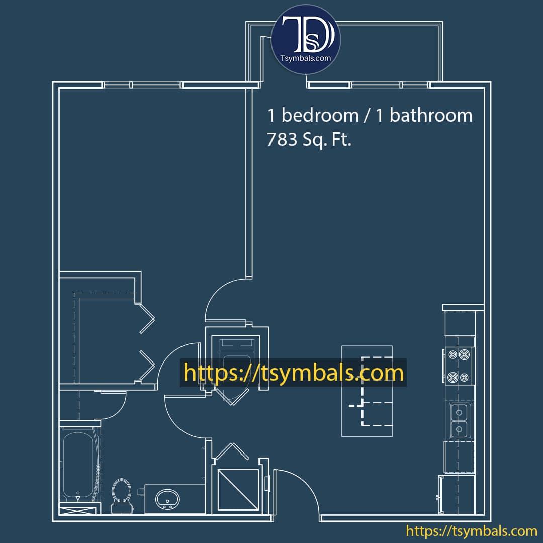 One bedroom apartment drawing nolen b min