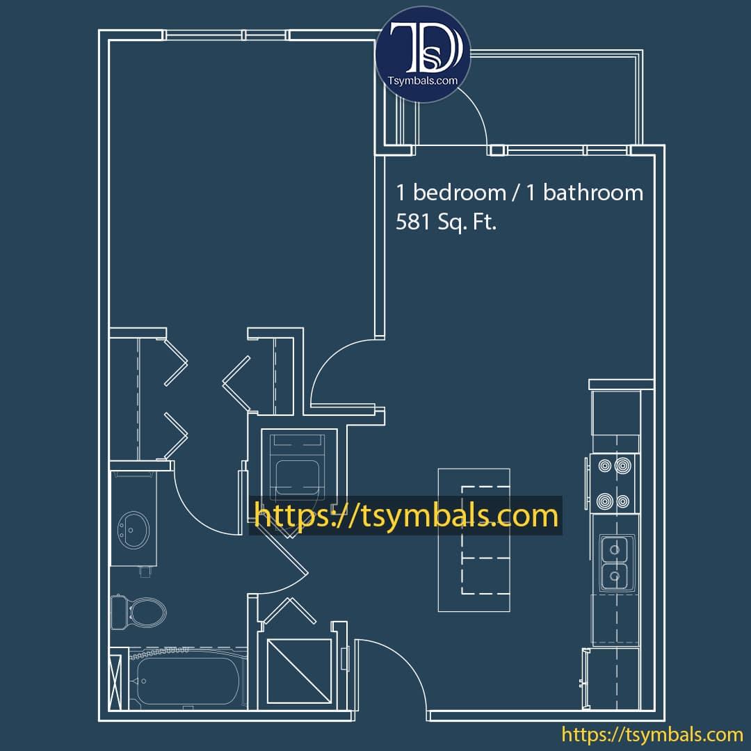 One bedroom apartment drawing nolen c min