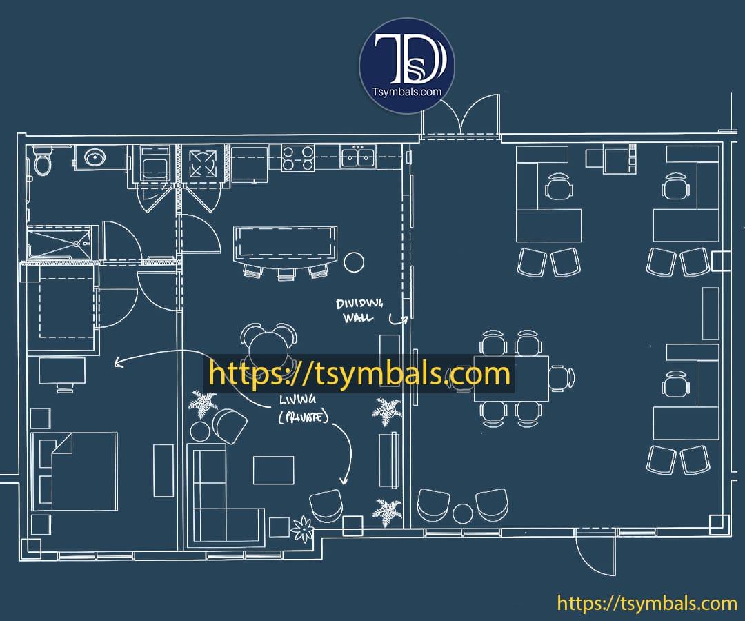 One bedroom apartment drawing nolen working b min