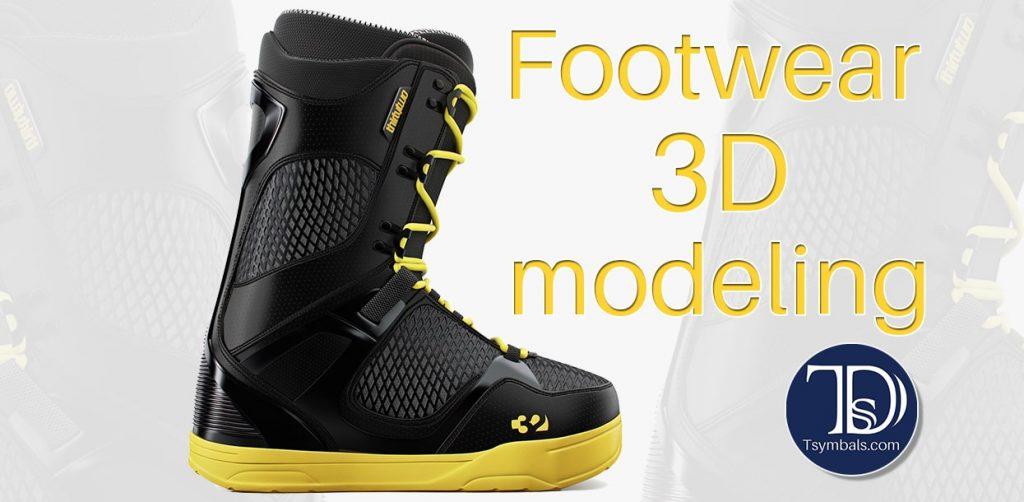 Footwear 3D modeling and rendering
