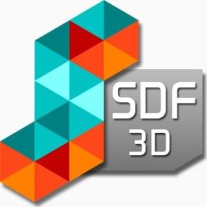 SDF 3D logo
