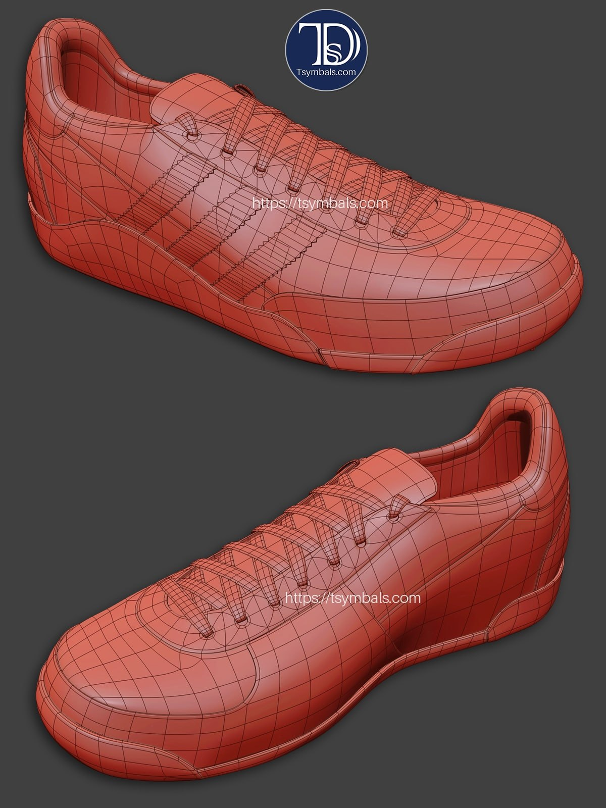 Sport Shoes 3D Modeling | Tsymbals Design