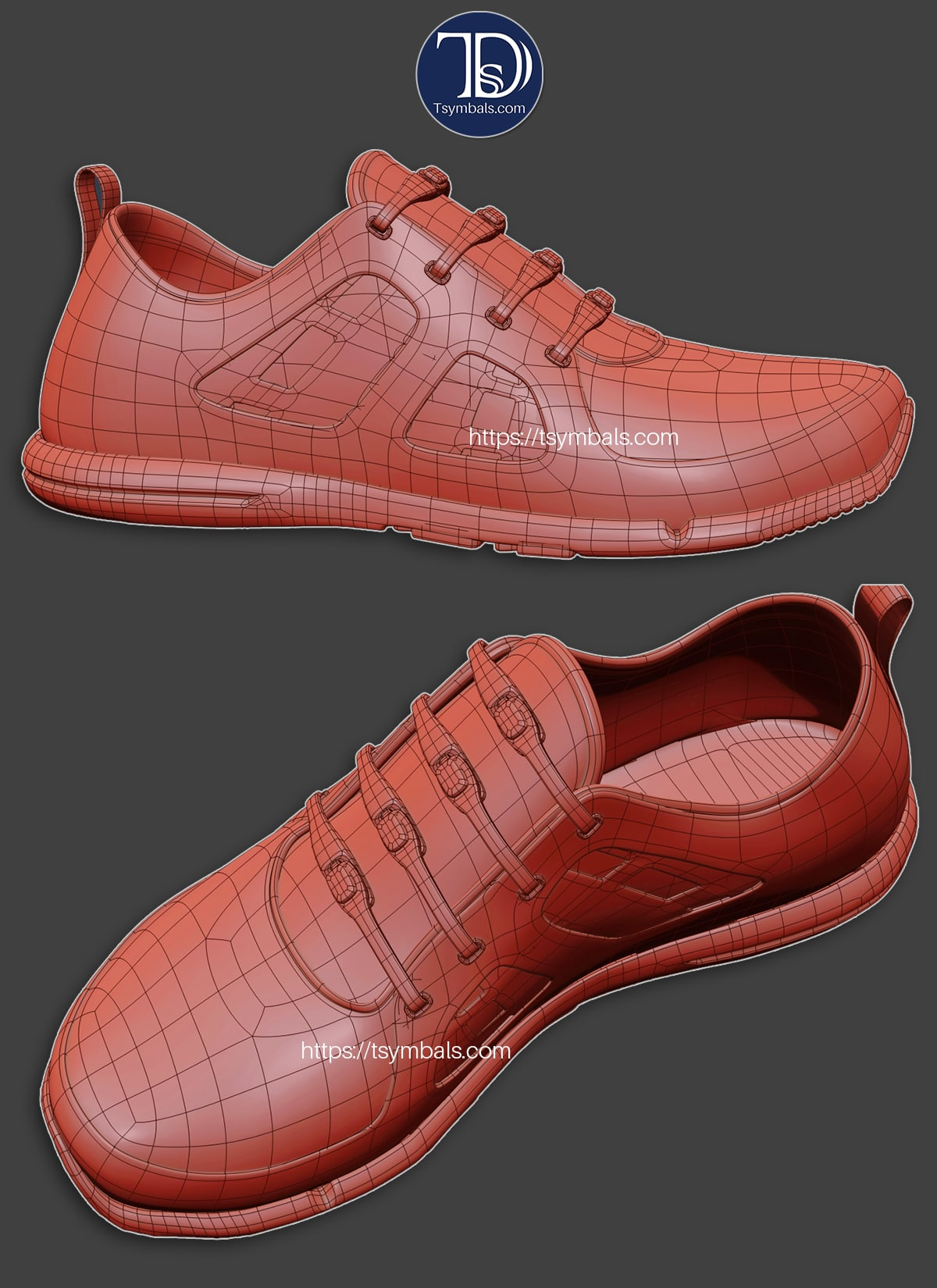 woman sport sneakers 3d concept 01