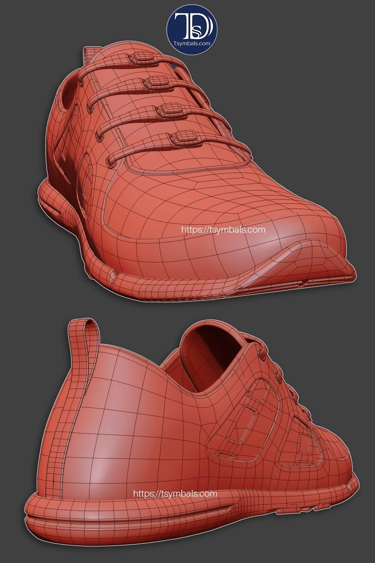 woman sport sneakers 3d concept 02
