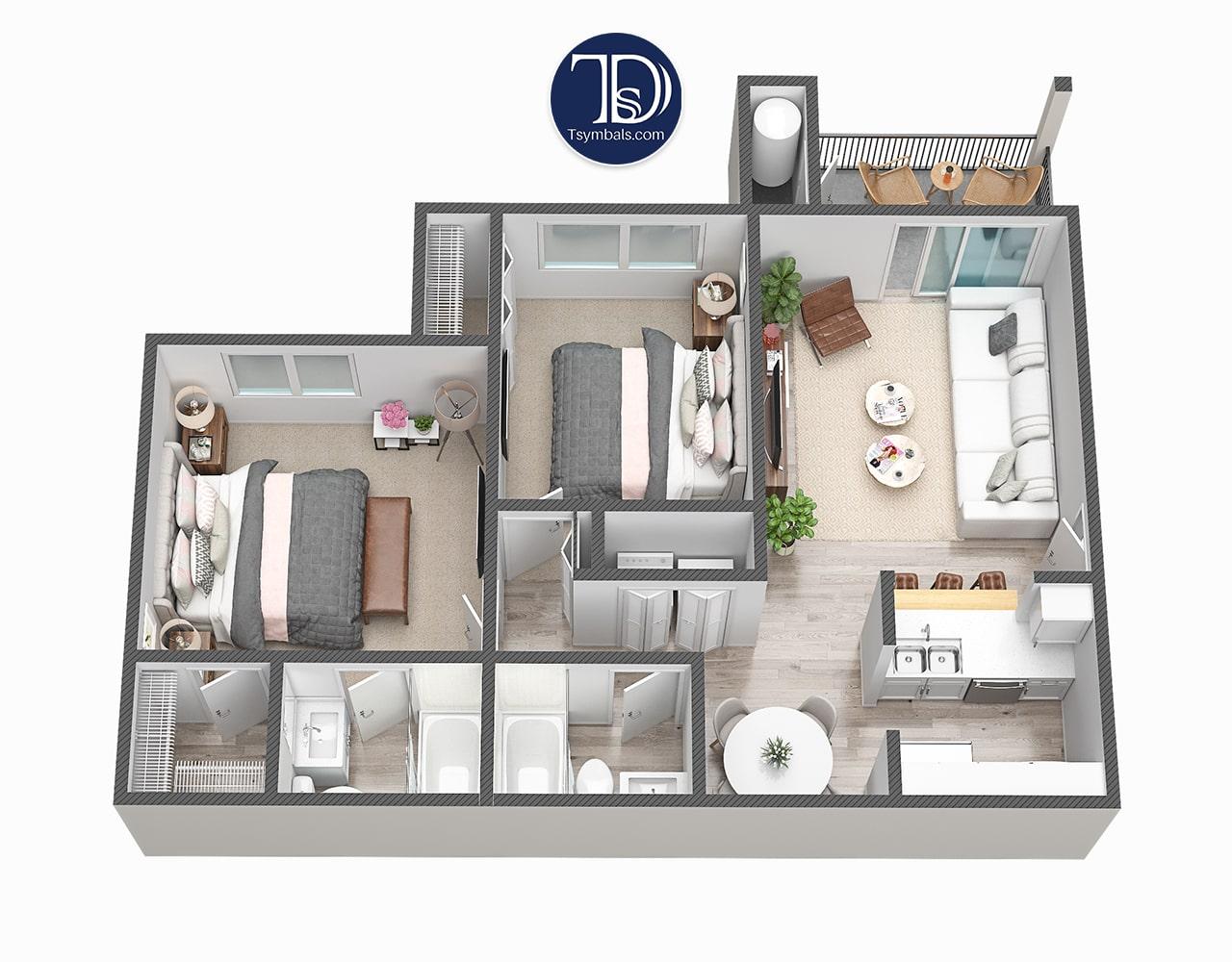 3d room model Cielo Boca