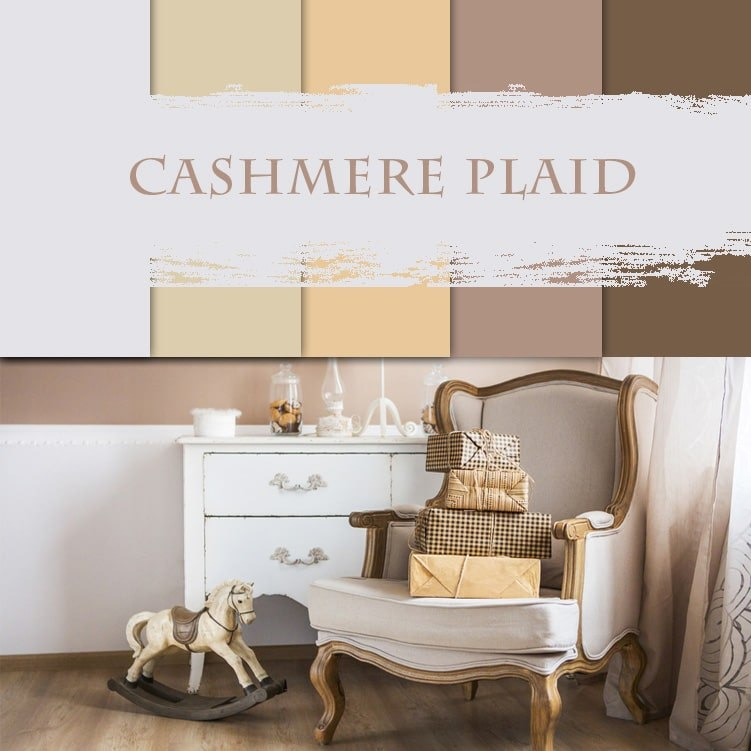 3d visualization of the room: cashmere plaid