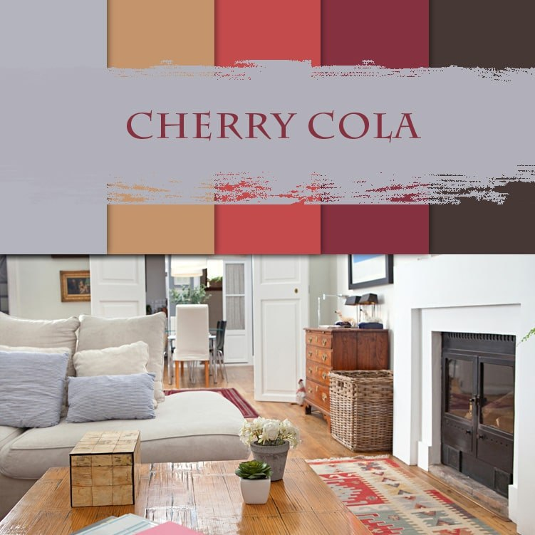 3d visualization of the room: cherry cola