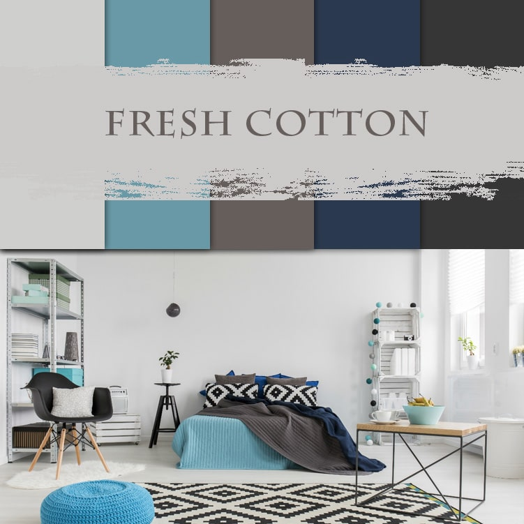 3d visualization of the room: fresh cotton