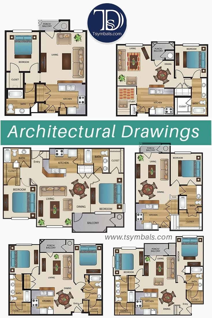 Property 2D Architectural drawings