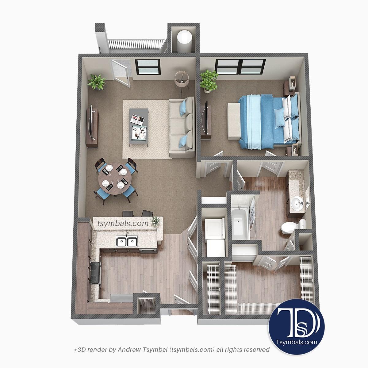 housing plans 3d photo