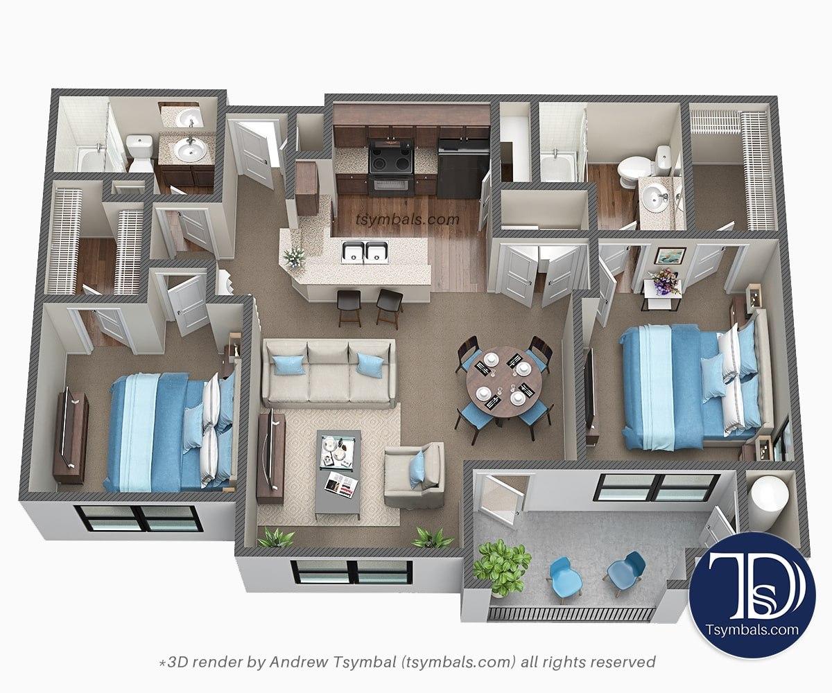 floor design 3d image