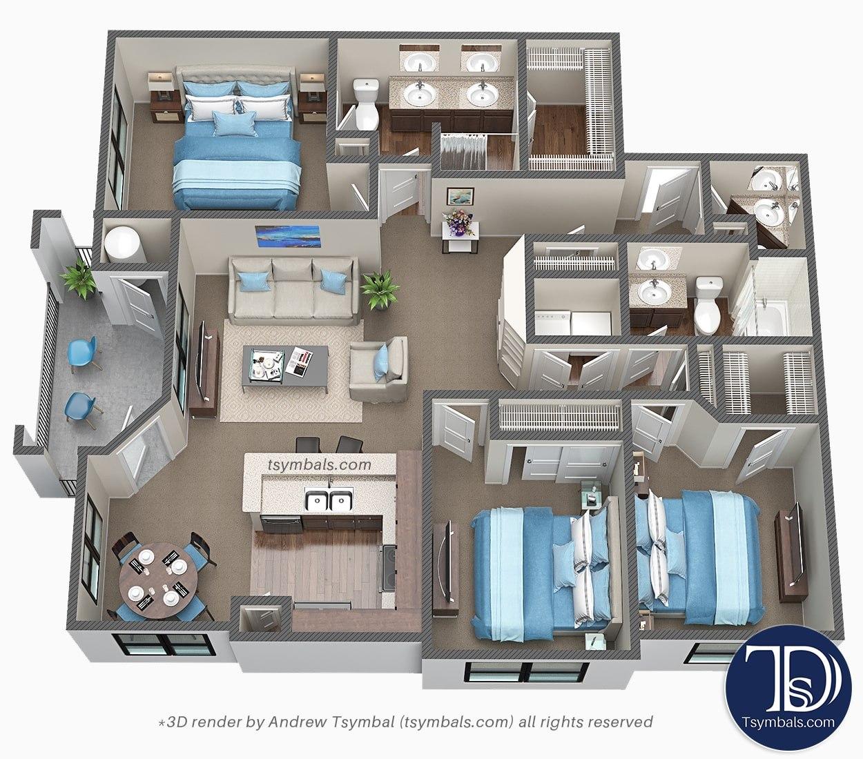 3d design floor image