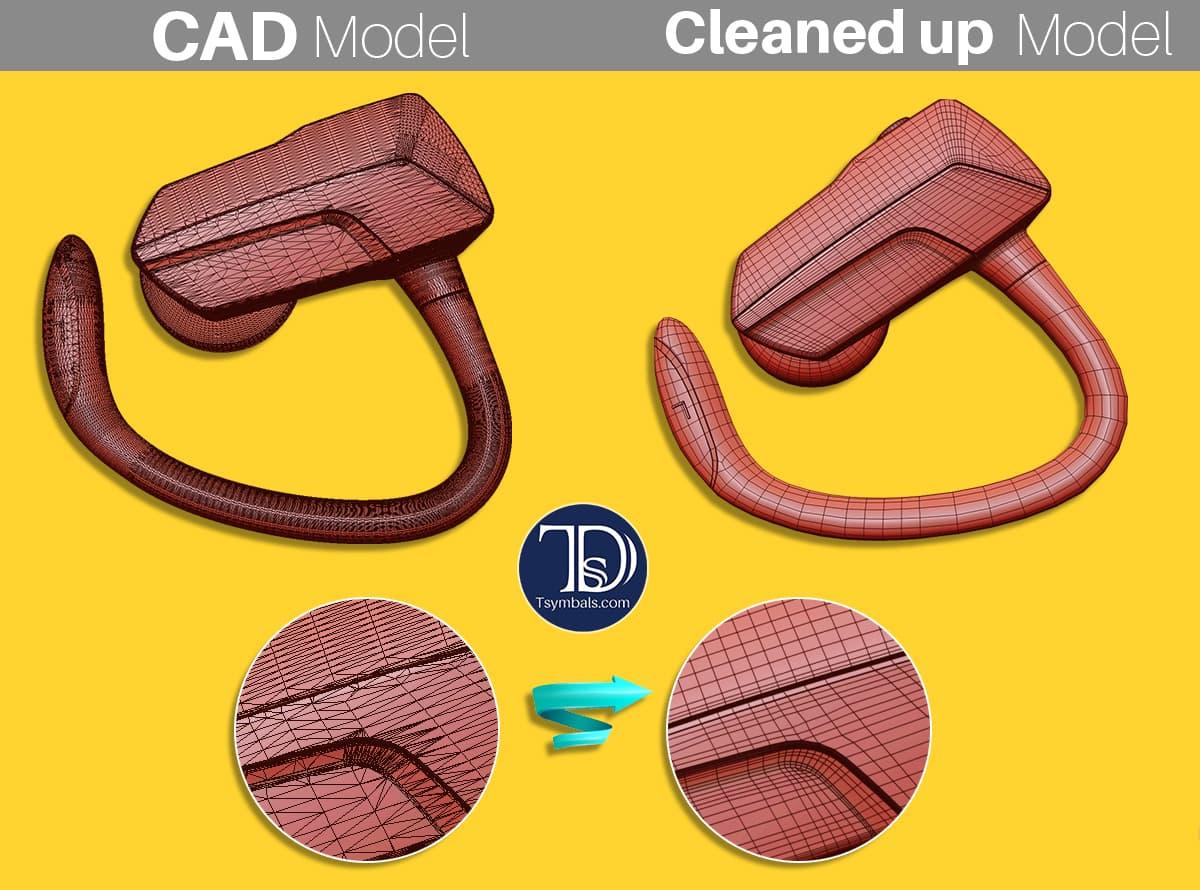 CAD model to subdivide model conversation
